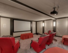 Breckenridge Theater for a Traditional Home Theater with a Open Concept and Aspen Ridge II Floor Plan by Starr Homes