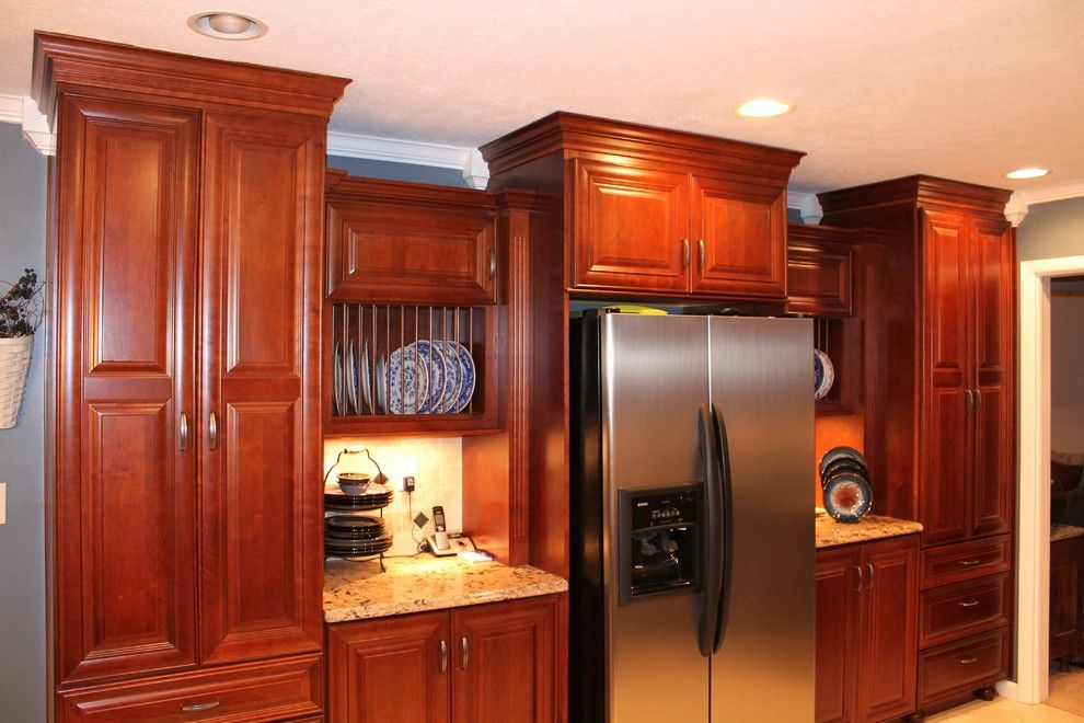 Bridgewood for a Traditional Kitchen with a Cambria and Cherry with Cafe Stain by Innovations by Vp
