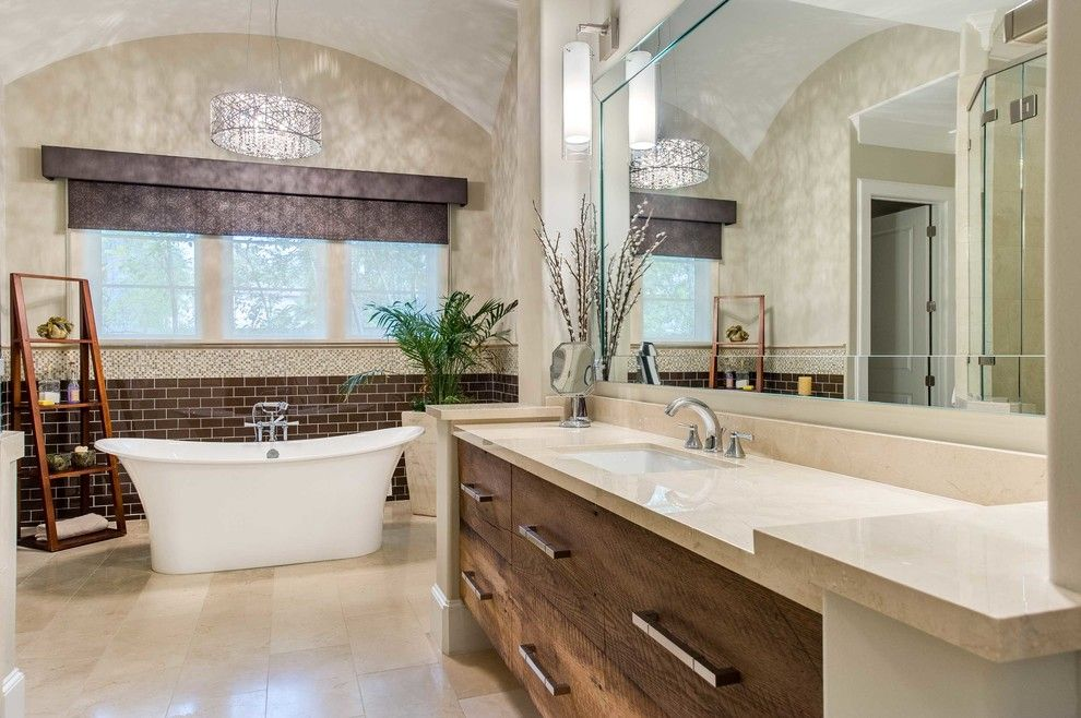 Bridgewood for a Transitional Bathroom with a Transitional and Bridgewood by Elizabeth Garrett Interiors, Llc