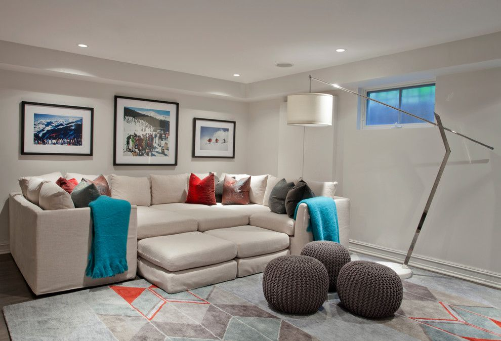 Broken Arrow Theater for a Contemporary Basement with a Contemporary and Mohawk Street Residence by Studio Gild