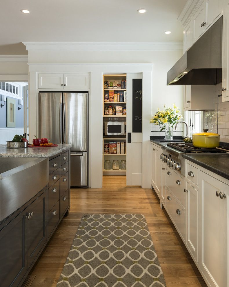 Brosco Doors for a Traditional Kitchen with a Range Hoods and Stonewall Farmhouse by Whitten Architects