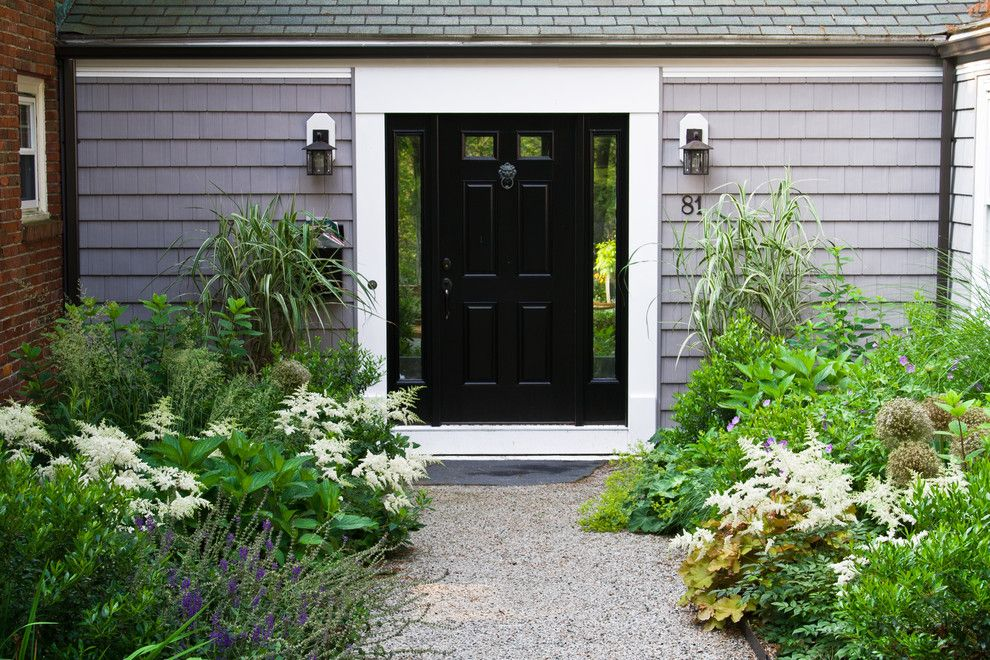Brosco Doors for a Traditional Landscape with a Gravel Path and Belmont Hill Residence by Matthew Cunningham Landscape Design Llc