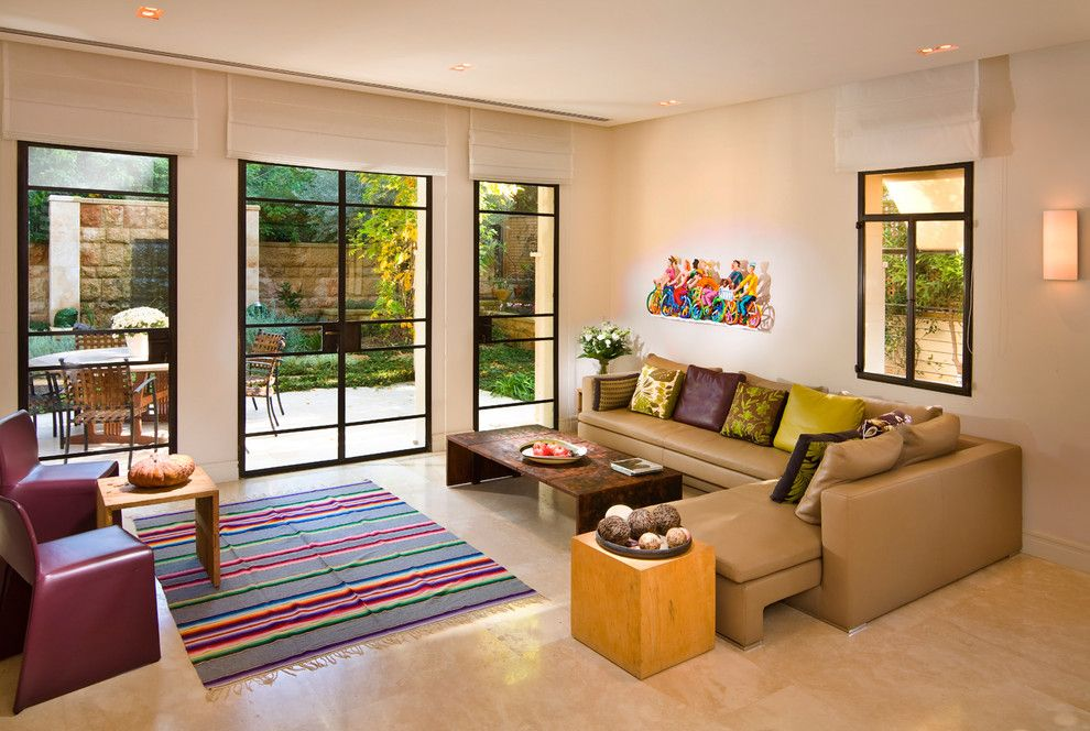 Broward Factory Service for a Contemporary Living Room with a Wall Decor and Living Room by Elad Gonen