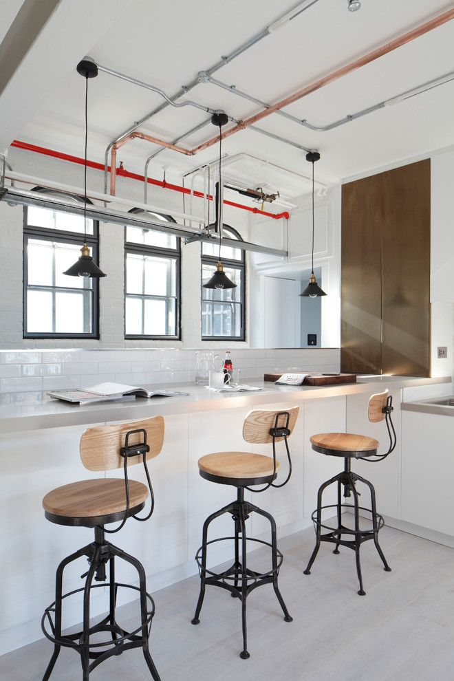 Broward Factory Service for a Industrial Kitchen with a Soho Loft and Luxury Loft Apartment Kitchen by Oliver Burns