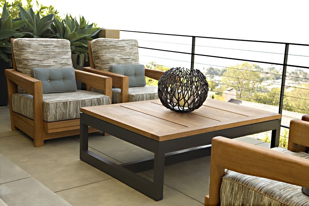 Brownlee Furniture for a Contemporary Patio with a Laguna Beach and Contemporary Newport Beach Residence by Harte Brownlee & Associates Interior Design