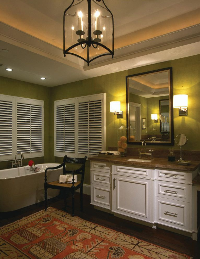 Brownlee Furniture for a Traditional Bathroom with a Classic Estate and Updated Classic Residence by Harte Brownlee & Associates Interior Design