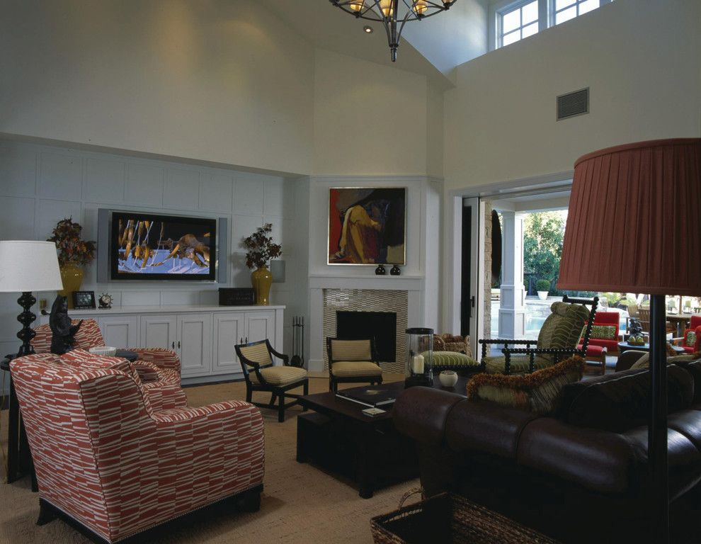 Brownlee Furniture for a Traditional Living Room with a Wood Floor and Updated Classic Residence by Harte Brownlee & Associates Interior Design