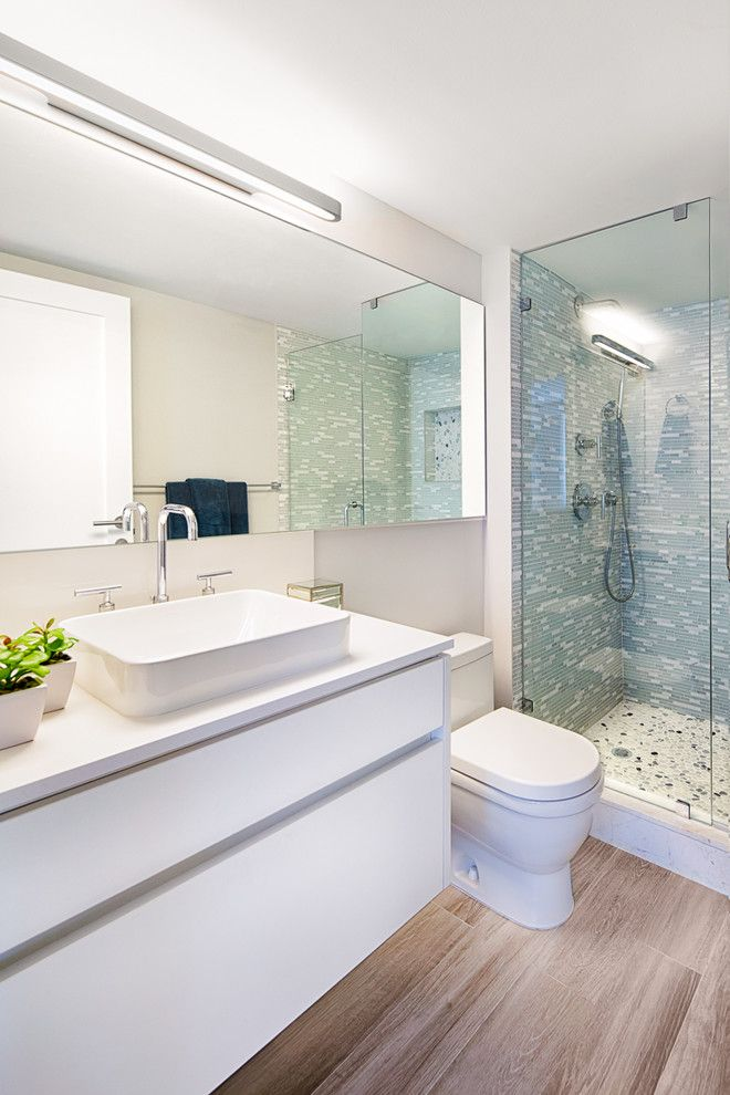 Buckeye Heating and Cooling for a Contemporary Bathroom with a Miami Luxury Condos and the Yacht Club   Modern Living by Stylehaus Design