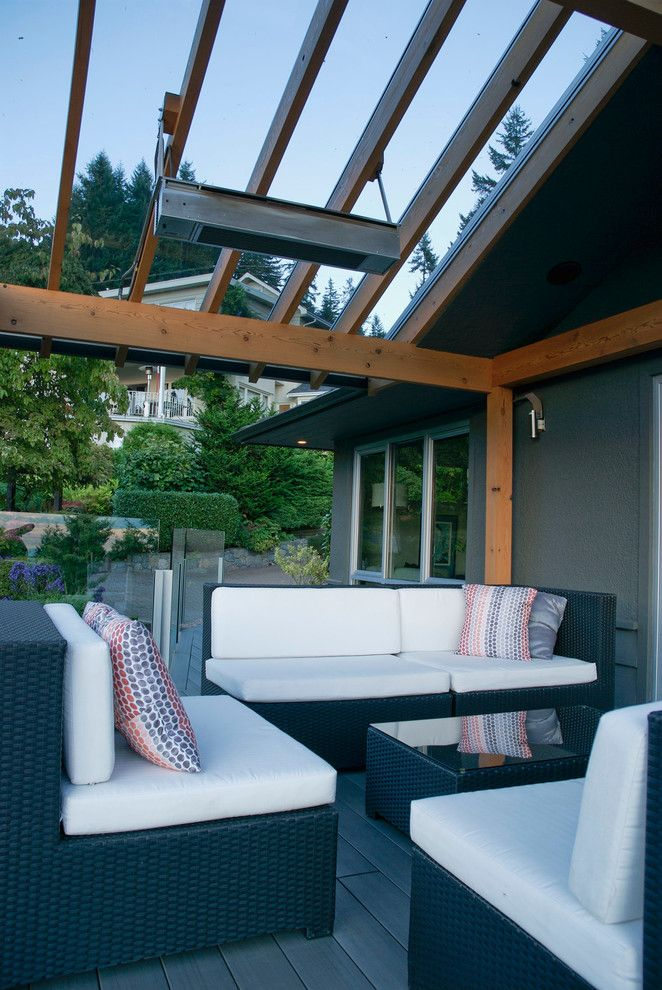 Buckeye Heating and Cooling for a Contemporary Deck with a My Houzz and My Houzz: Full Tilt Reinvention for a 1950s Ranch by Heather Merenda