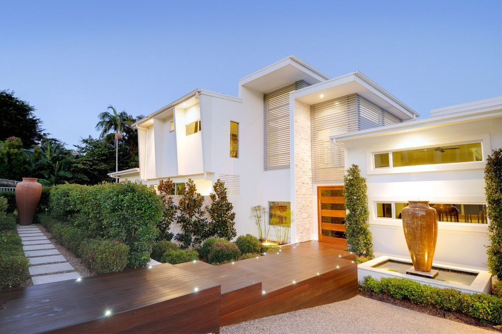 Budger for a Modern Exterior with a Pool and Hillside Home   Buderim by Soul Space