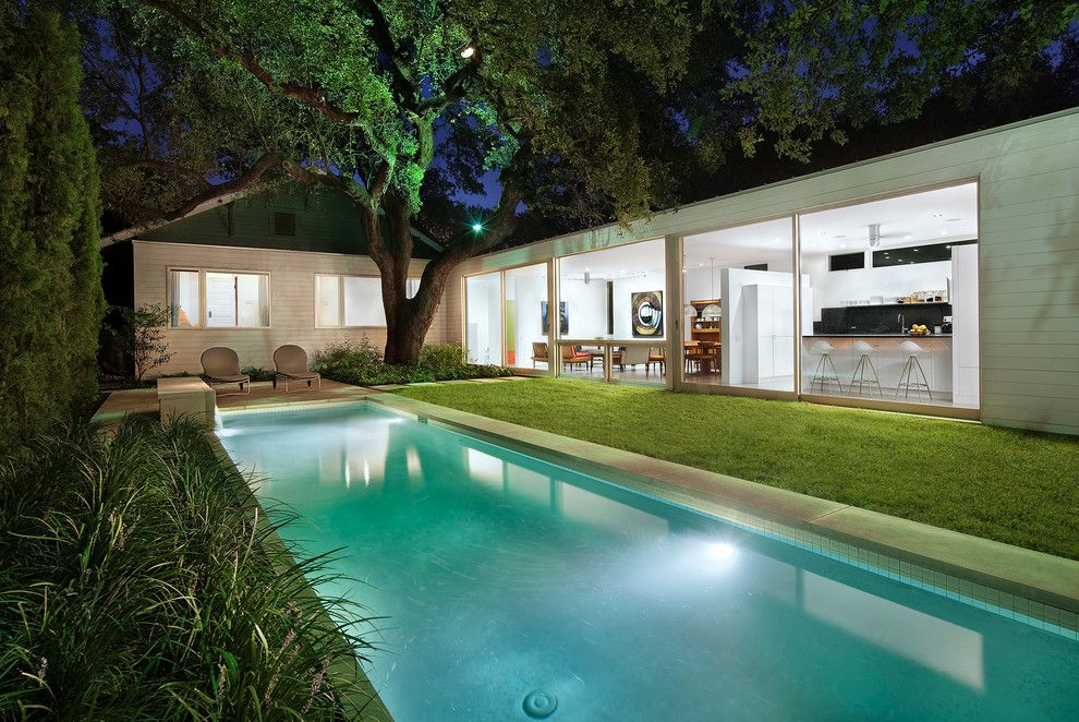 Bungalow 8 Omaha for a Contemporary Pool with a Lawn and 1917 Bungalow by Miró Rivera Architects