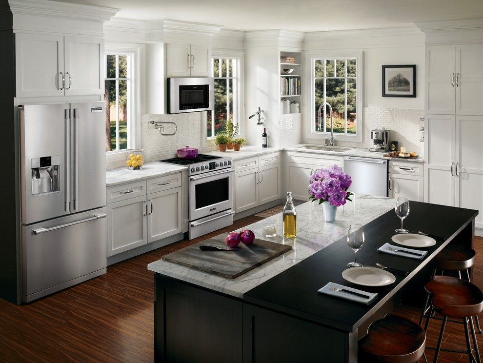 Bungalow Austin for a Contemporary Kitchen with a Pot Filler and Frigidaire by Frigidaire®