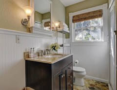 Bungalow Austin for a Contemporary Powder Room with a Modern and Bungalow on Bonham Terrace by Katy Dickson Designs & Staging