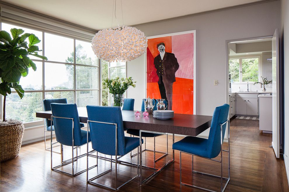 Burke Flooring for a Contemporary Dining Room with a Bb and Dining Room by Cheryl Burke Interior Design