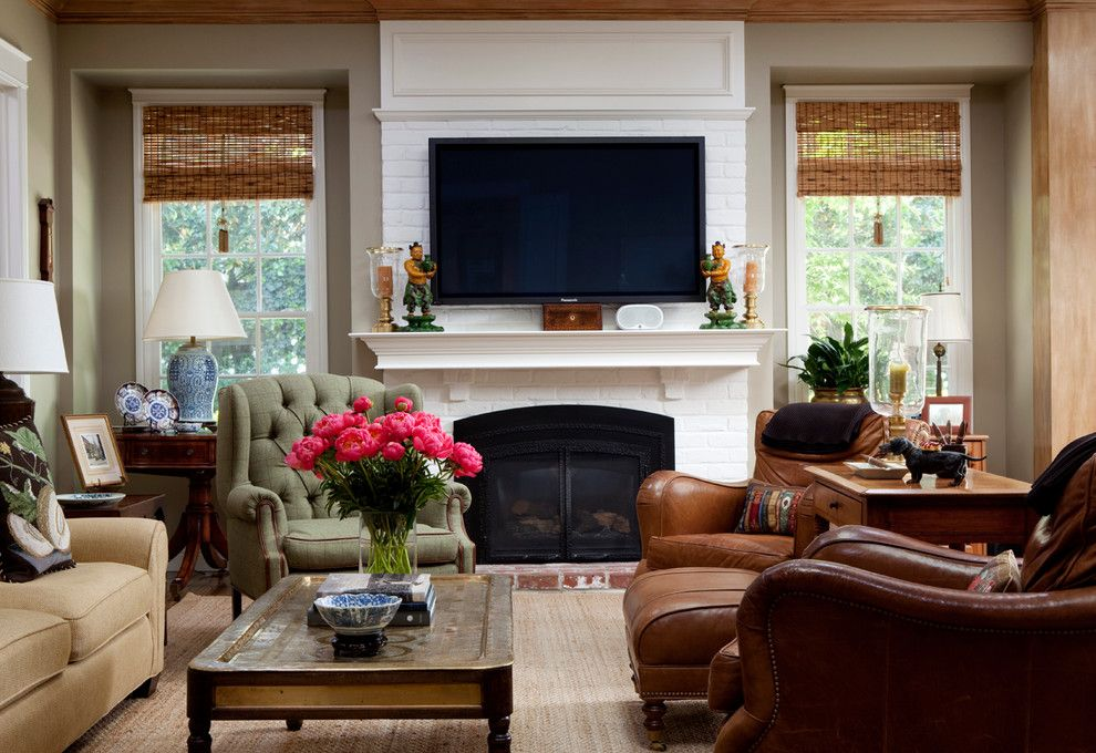Burke Flooring for a Traditional Family Room with a Wood Trim and Lafayette Residence by Kathleen Burke Design