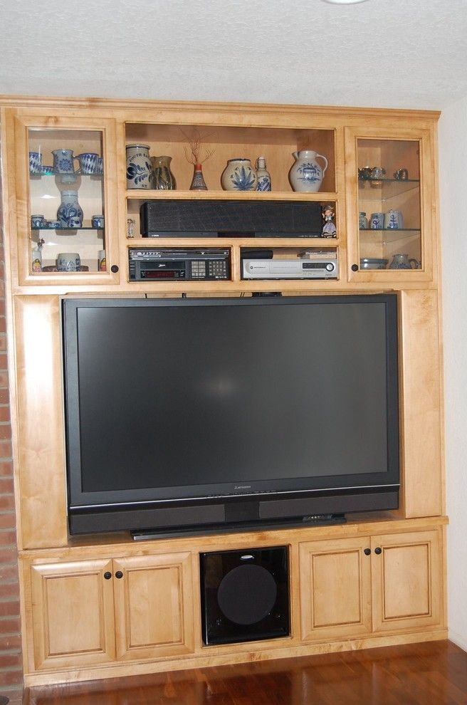 Burke Rehabilitation Center for a Traditional Home Theater with a Maple Cabinets and Entertainment Center by Burke Kitchen & Bath Design