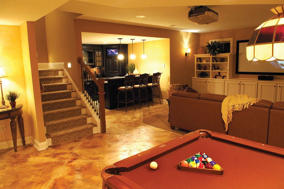 Buster Crabbe Pools for a Traditional Basement with a Billiards and Plan #119D-0003 by House Plans and More