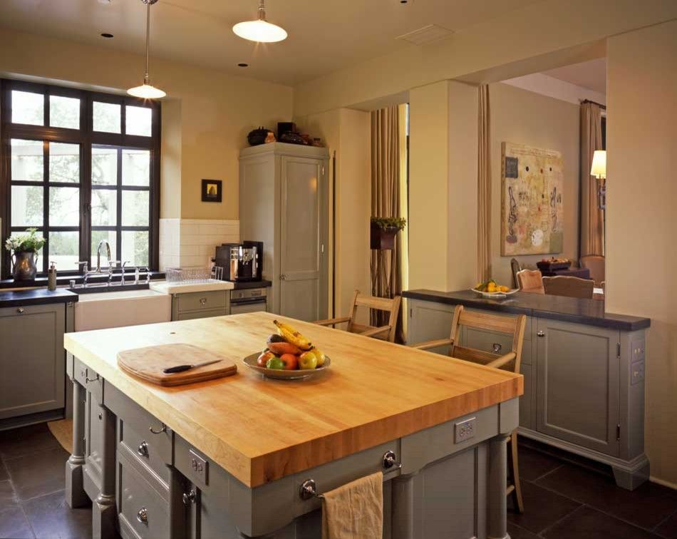 Butcher Block Nyc for a Mediterranean Kitchen with a Island and Hilltop Mediterranean by Jma (Jim Murphy and Associates)