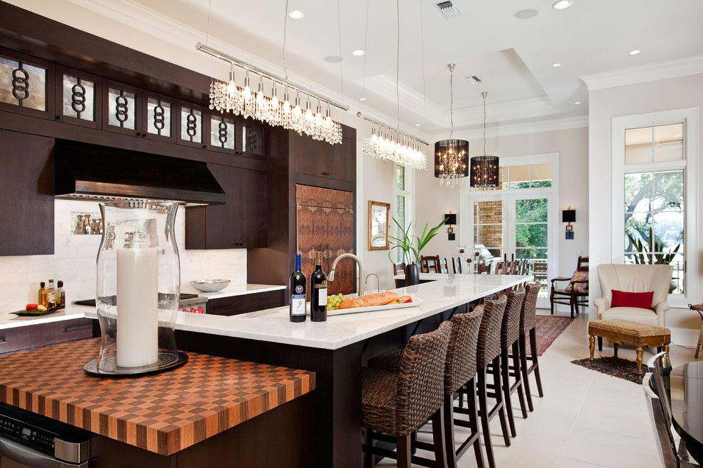 Butcher Block Nyc for a Transitional Kitchen with a Dark Kitchen and Casual Sophisticate by in Detail Interiors