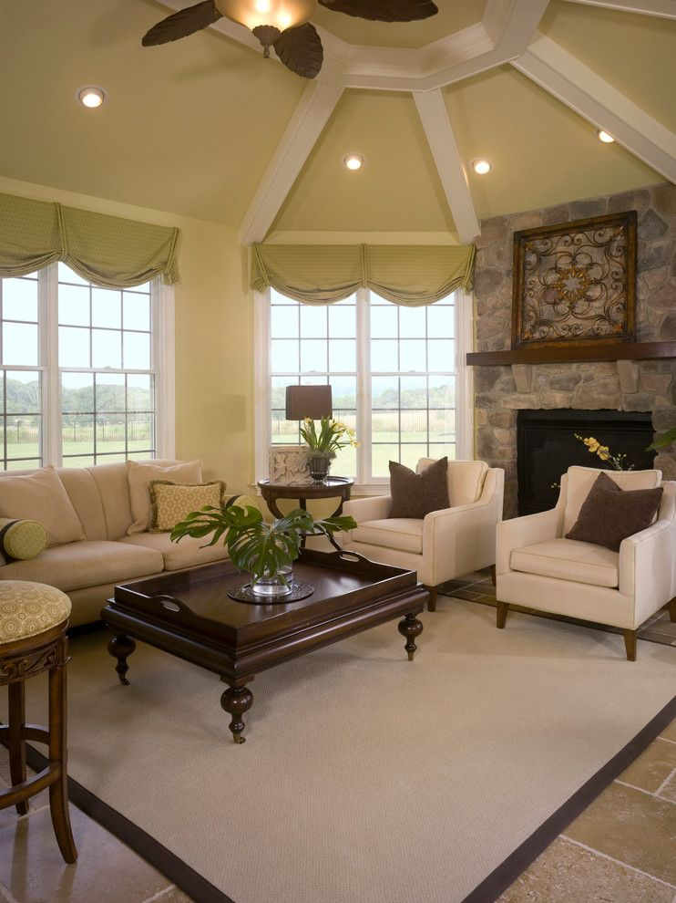 Buttercup Furniture for a Contemporary Family Room with a Open and Sizzling Sunroom by Interiors by Donna Hoffman