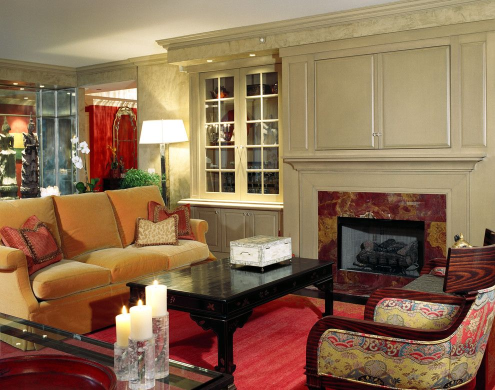 Buttercup Furniture for a Traditional Living Room with a Custom Built Ins and Lake Shore Drive Luxury Condo by Deb Reinhart Interior Design Group, Inc.