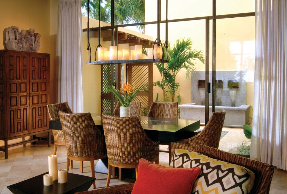 Buttercup Furniture for a Tropical Dining Room with a Beachy Dining Room and Tropical Dining Room by Sfadesign.com