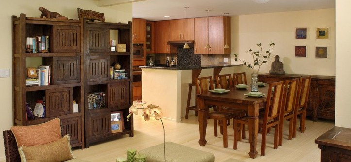 Buttercup Furniture for a Tropical Dining Room with a Tropical and Bluestone by Archipelago Hawaii Luxury Home Designs