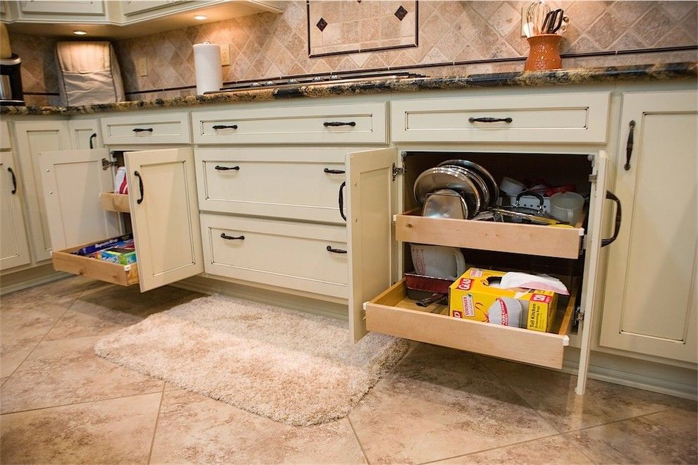 C Lazy U Ranch for a Traditional Kitchen with a Butcher Block Island and a Touch of Jewels by Dreammaker Bath & Kitchen