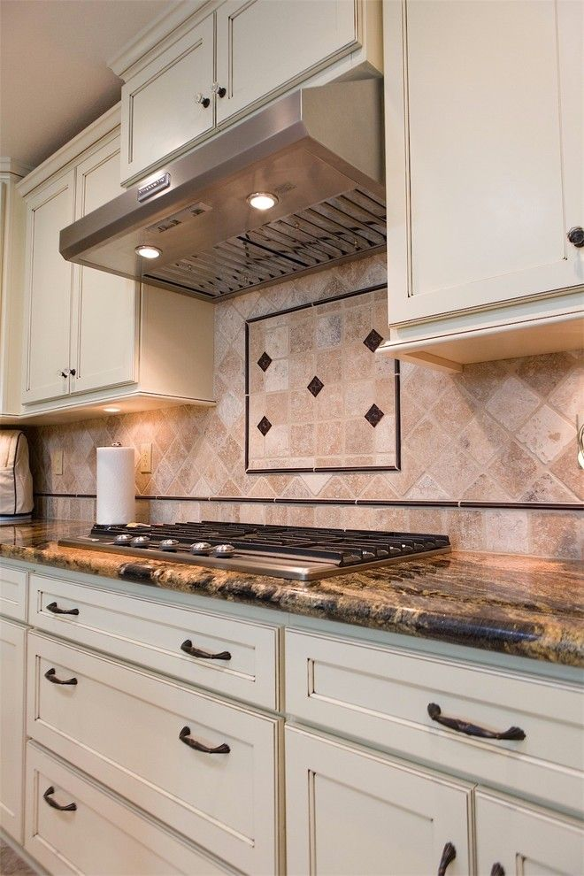 C Lazy U Ranch for a Traditional Kitchen with a Large Crown Molding and a Touch of Jewels by DreamMaker Bath & Kitchen