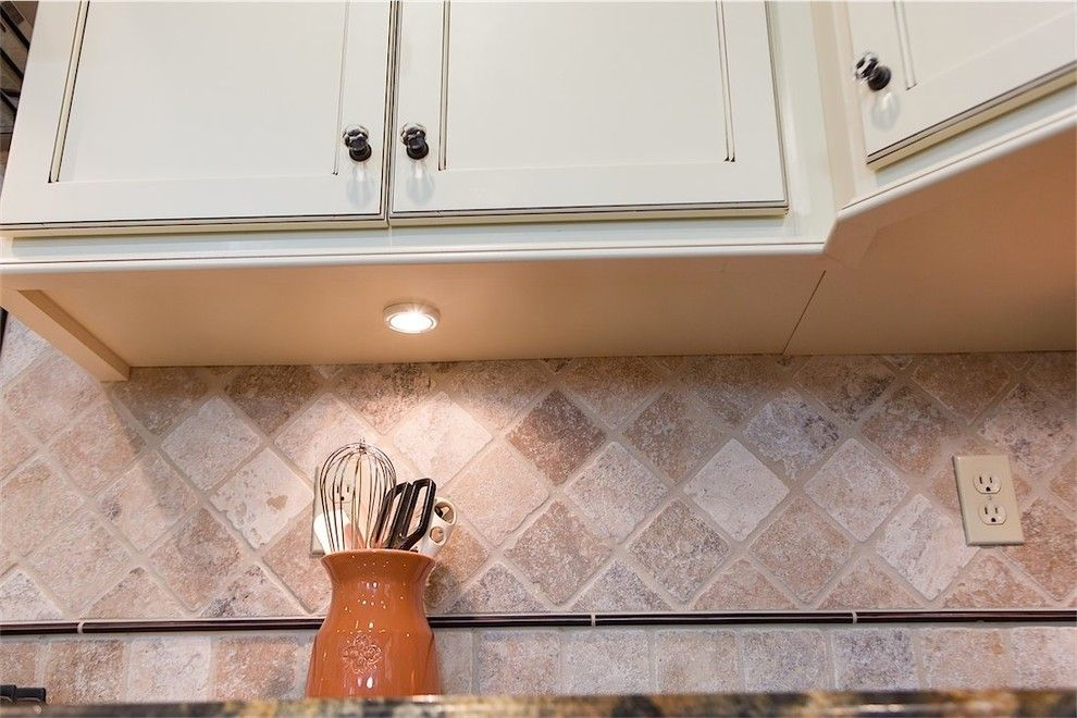 C Lazy U Ranch for a Traditional Kitchen with a Stainless Appliances and a Touch of Jewels by Dreammaker Bath & Kitchen