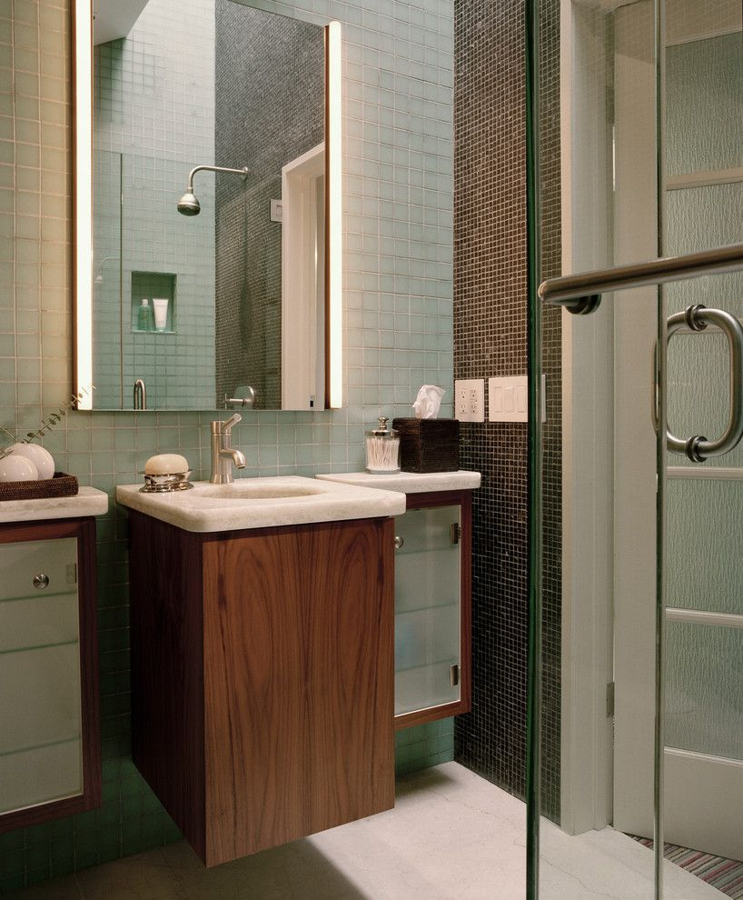 Cabin John Md for a Contemporary Bathroom with a Built in Shelves and Silver by John Lum Architecture, Inc. AIA