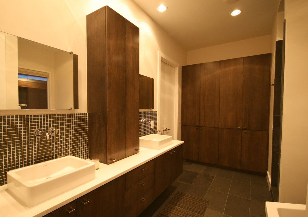 Cabin John Md for a Modern Bathroom with a Vessel Sinks and Edmondson by John Lively & Associates