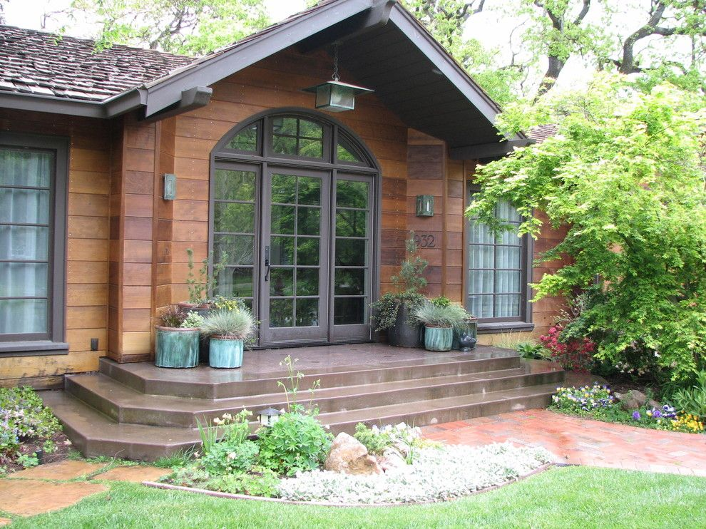 Cabin John Md for a Traditional Entry with a Yellow Flowers and Wooded Cottage by John Montgomery Landscape Architects