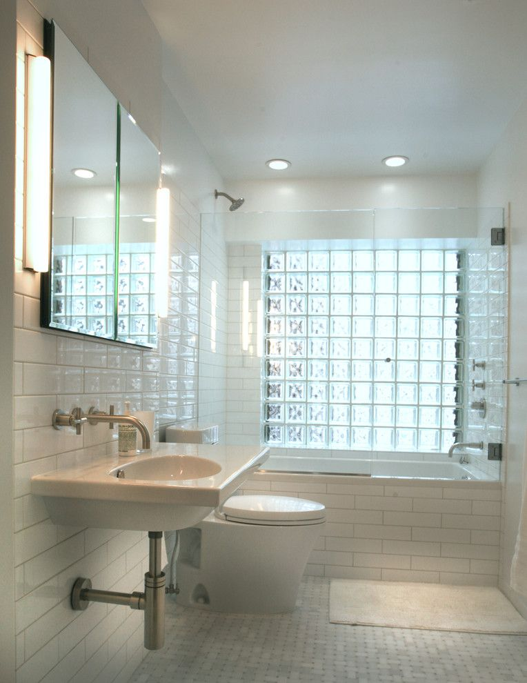 Cabin John Md for a Transitional Bathroom with a White Subway Tile and Upper West Side Nyc Apartment Renovation by John M Reimnitz Architect Pc