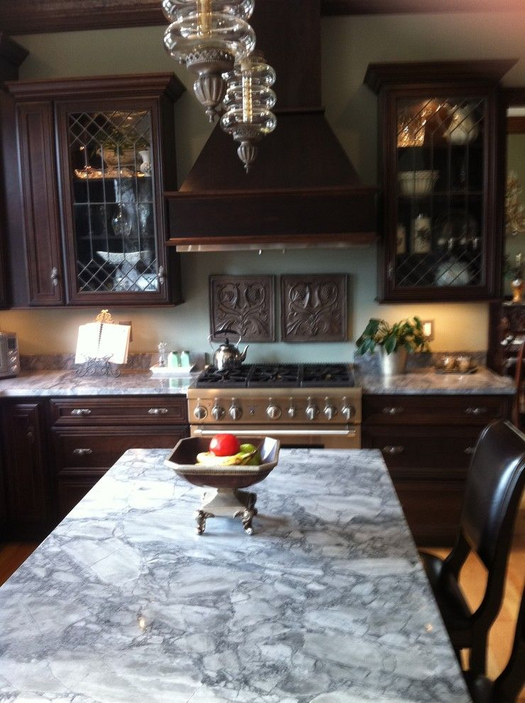 Cabot House Furniture for a Traditional Kitchen with a Custom Wall Cabinets by Dewils and New Home Built in Saratoga by Avalon Kitchen