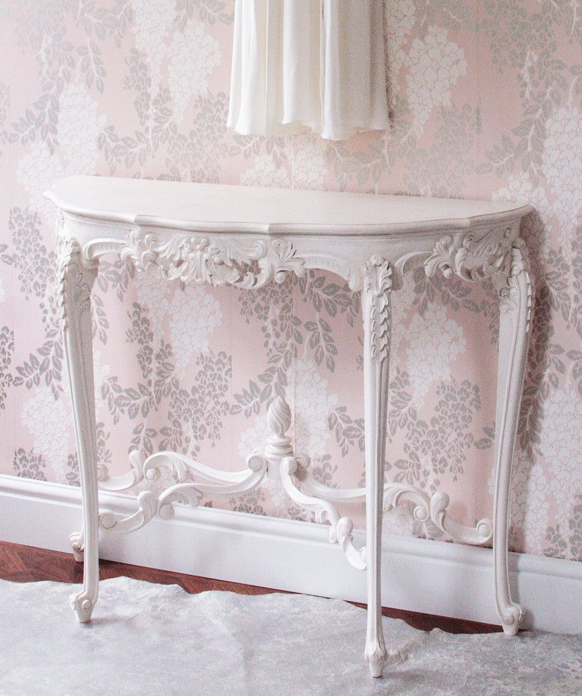 Cabriole for a Traditional Bedroom with a Mirrored and Provencal Marie Antoinette Console Table by the French Bedroom Company