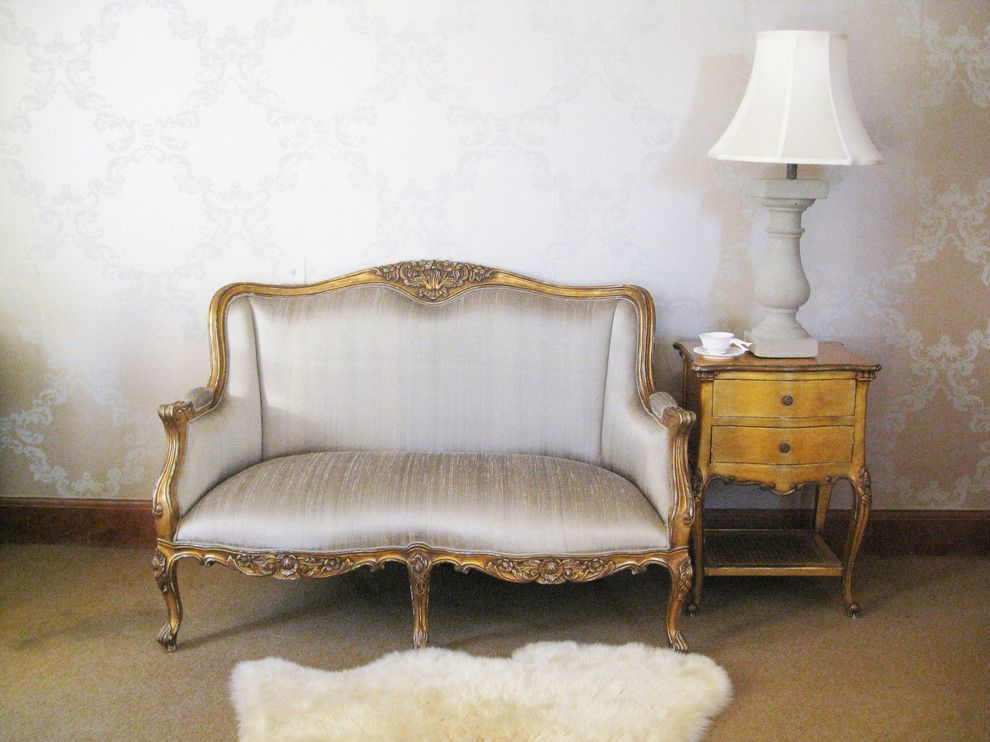 Cabriole for a Traditional Living Room with a Chesterfield and Versailles Gold & Silk Bedroom Sofa by the French Bedroom Company