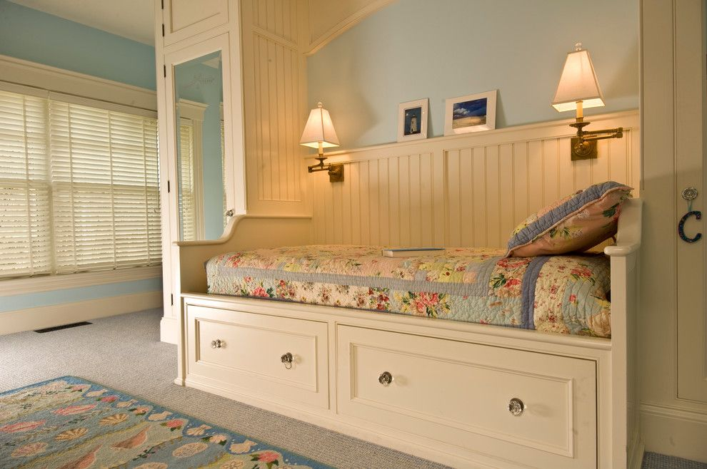 Cal King Bed Dimensions for a Traditional Bedroom with a Paneling and New Home   Martha's Vineyard by Kemper Associates Architects, Llc