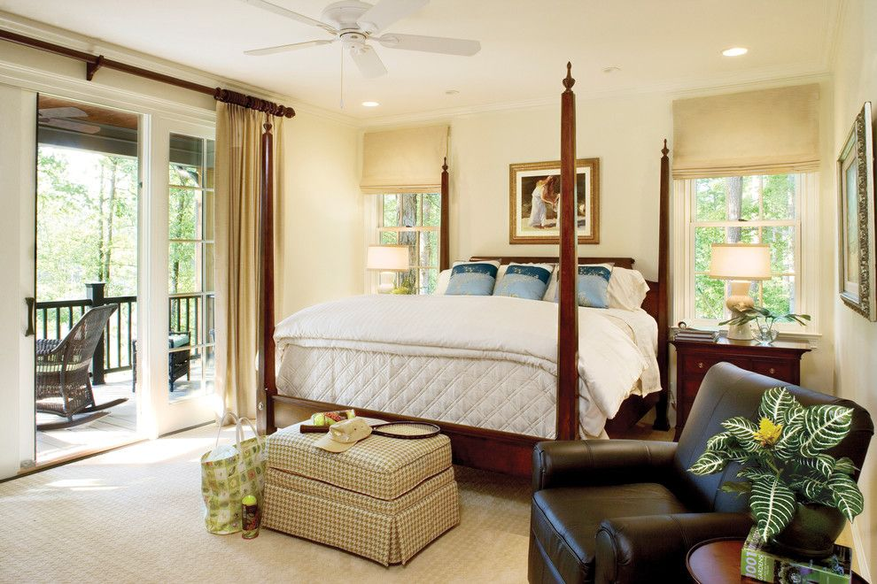 Cal King Bed Dimensions for a Traditional Bedroom with a White Bedding and Southern Living Photos by Southern Living