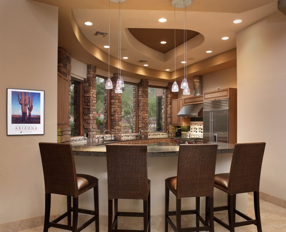 California Grizzly Bear for a Contemporary Kitchen with a Pendant Lighting and Levin I Residence by Process Design Build, L.l.c.