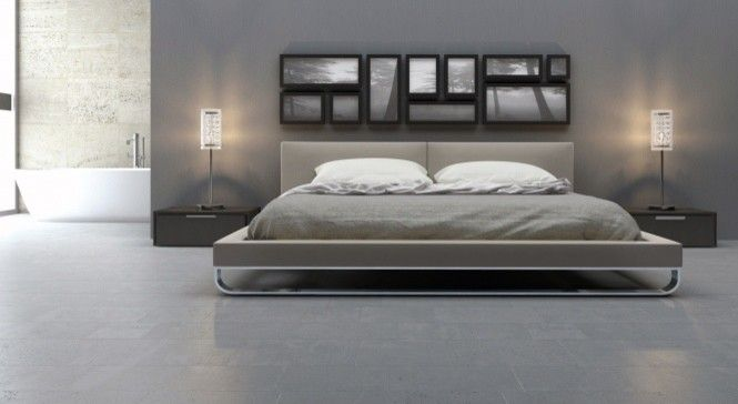 Calking for a Contemporary Bedroom with a Chelsea Bed and Chelsea Bed by ModLoft | Supplied by Rove Concepts by Rove Concepts