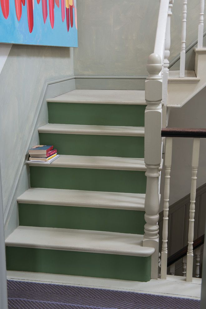 Calking for a Contemporary Staircase with a Contemporary and F&B Floors by Farrow & Ball