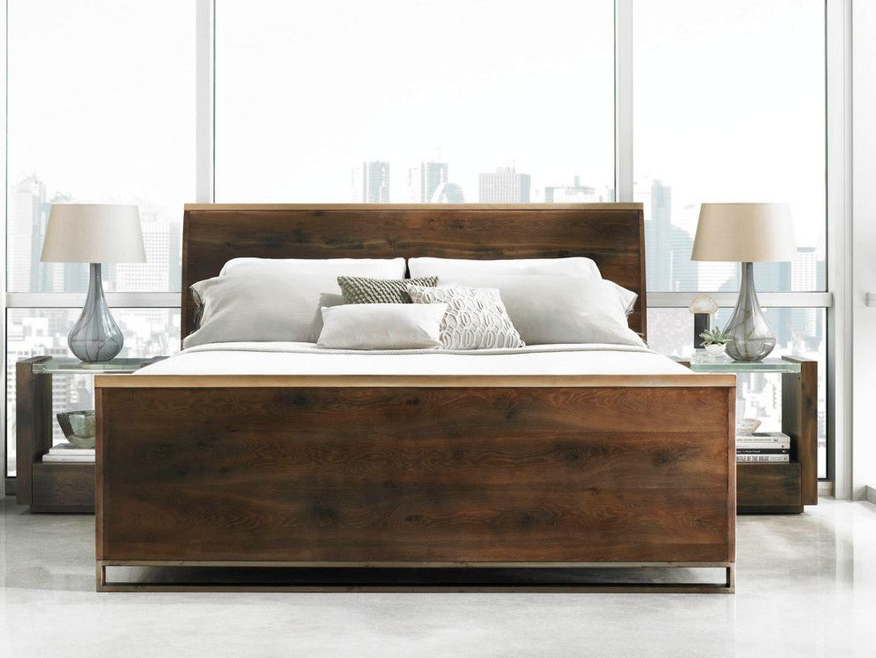 Calking for a Modern Bedroom with a Acrylic Top Night Stand and Bedrooms by Nest Home Furnishings and Designs