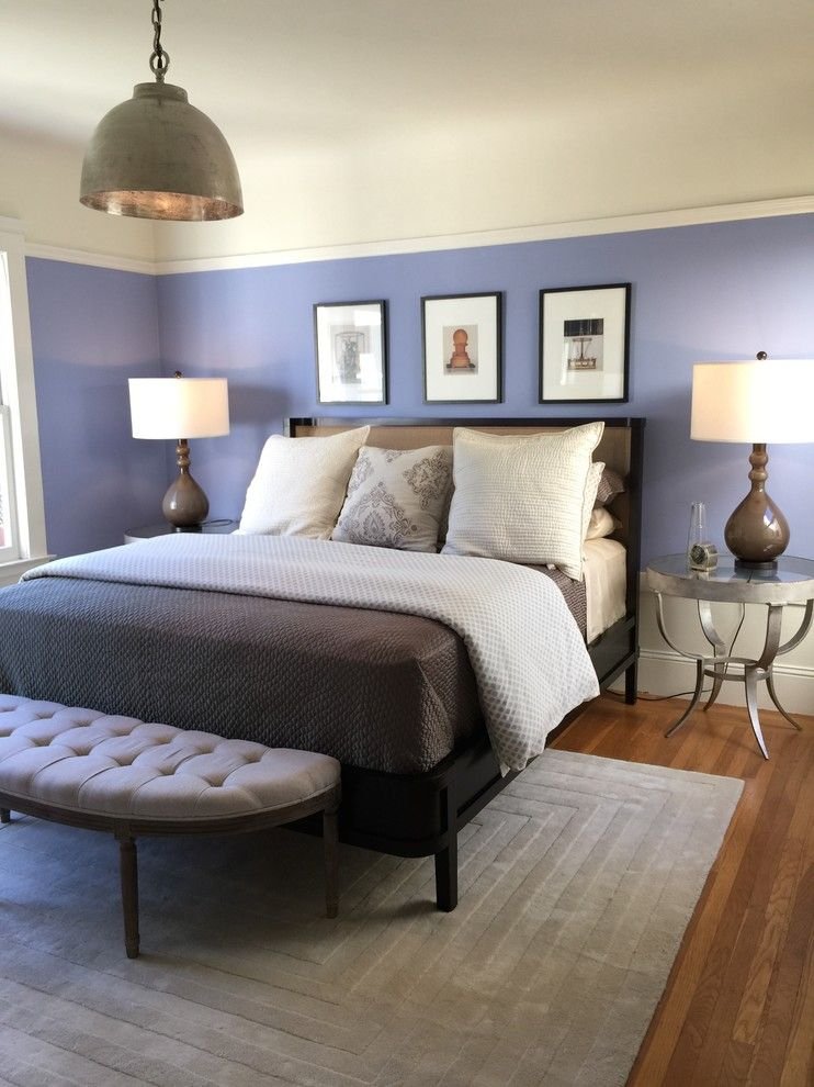 Calking for a Transitional Bedroom with a Cal King Bed and Bedrooms by Gigi Park