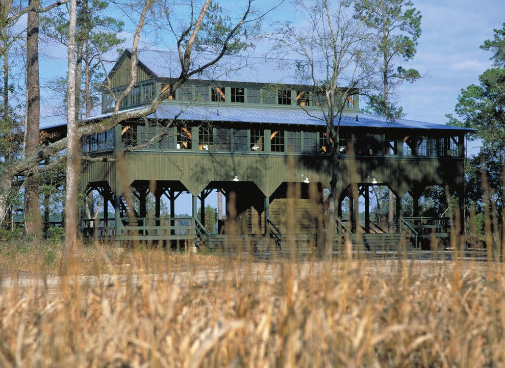 Camp Lejeune Housing for a Farmhouse Exterior with a Reclaimed Wood and Post and Beam Guest House |  Riceboro, Georgia by Historical Concepts