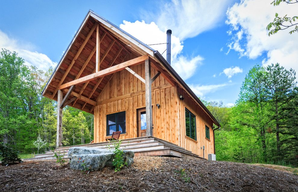 Camp Lejeune Housing for a Rustic Exterior with a Porch and Little Bit of Thoreau in the Blue Ridge Mountains by William Britten