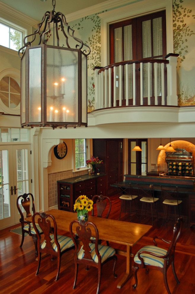 Camp Lejeune Housing for a Traditional Dining Room with a Traditional and Hudson River House by Wallant Architect
