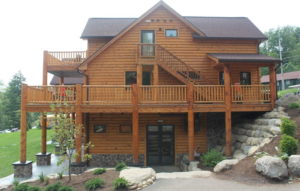 Camp Pendleton Lodging for a Rustic Exterior with a Rustic Lodge and Camp Walden New York by Northern Log Supply