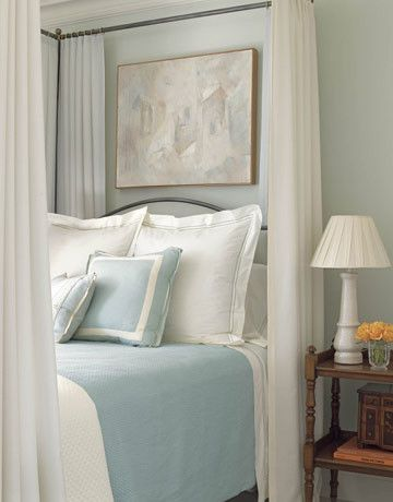 Canope for a  Bedroom with a Color and the Softness of Sherwin Williams by Donna Frasca