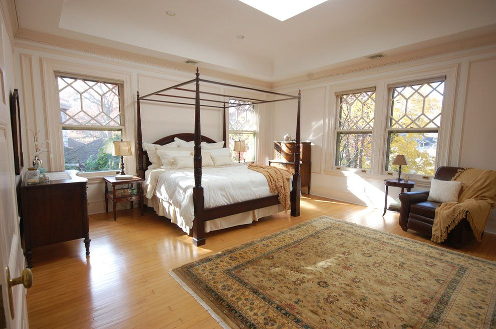 Canpo for a Traditional Bedroom with a Leather Arm Chair and Master Bedroom by Natalya Price of Nj Staged 2 Sell